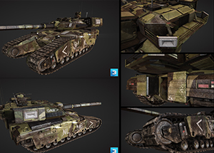 综合高精道具_Heavy Battle Tank_3Do